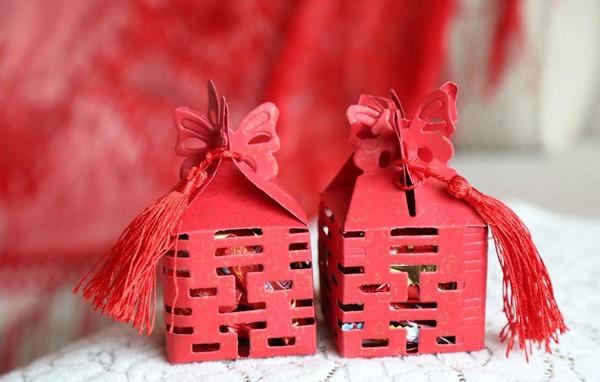 创意的中式结婚喜糖盒