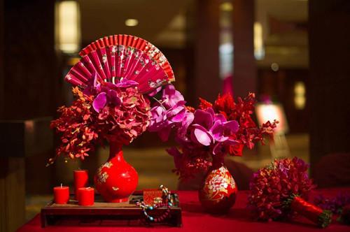 中式婚礼花艺怎么布置