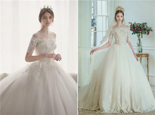 选对婚纱打造纤细手臂!