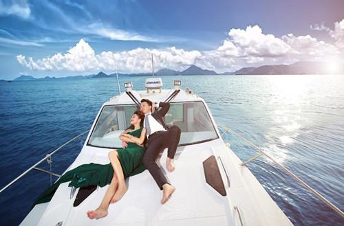 游艇婚纱照怎么拍好看