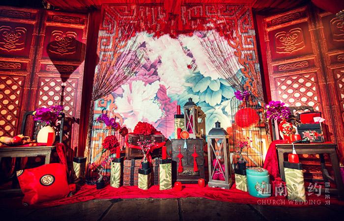 中式婚礼-花开牡丹